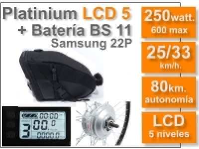 Kit Platinium LCD 5 + batería BS de 11 Ah 36v.