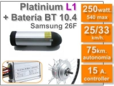 Kit Platinium L1 + batería BT de 10.4 Ah 36v.