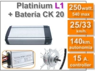 Kit Platinium L1 + batería CK de 20 Ah. 36v.