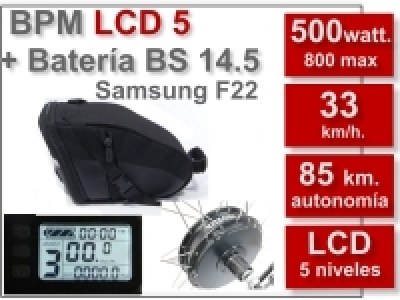 Kit BPM LCD5 BS 36V. 14.5Ah