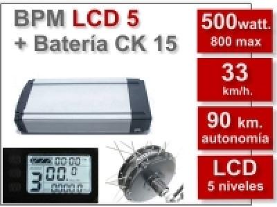 Kit BPM LCD5 CK de 36V y 15Ah.