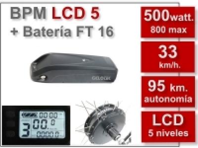 Kit BPM LCD 5 batería FT 16 Ah. 36 v.