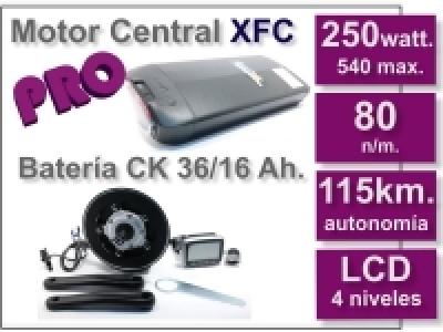 Kit Motor XFC PRO 36 V. con batería CK 16 Ah.