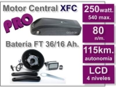 Kit Motor XFC PRO 36 V. con batería FT de 16 Ah.
