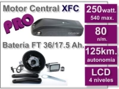 Kit Motor XFC PRO 36 V. con batería FT de17.5 Ah.