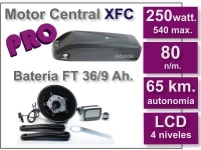 Kit Motor XFC PRO 36 V. con batería FT de 9 Ah.