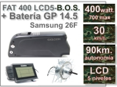 KIT FAT 500 FLCD5 B.O.S. + Batería GP de 36V., 14.5 Ah.