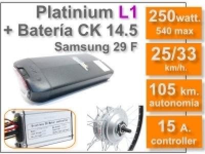 Kit platinium L1 con Batería Ck de 36V y 14.5AH.