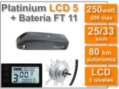 KIT Platinium LCD5 + Batería FT 36v. 11 Ah.