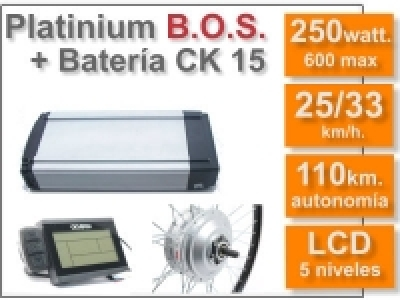 KIT Smart LCD5 B.O.S. con batería CK 36v. 16Ah.