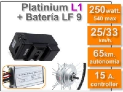 Kit Platinium L1 + batería LF de 9 Ah. 36v.