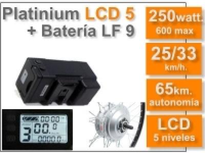 Kit Platinium LCD 5 + batería LF de 9 Ah. 36v.