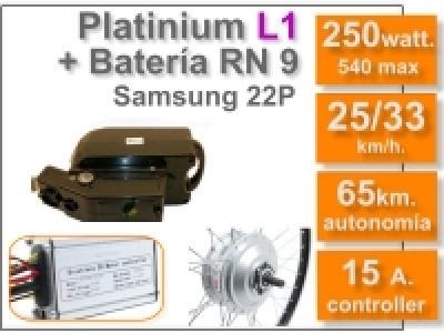 Kit Platinium L1 + batería RN de 9 Ah 36v.