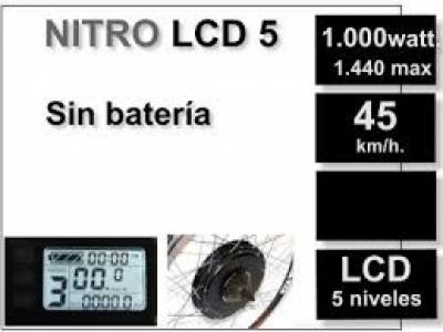 Kit Nitro LCD 5 sin batería (batería no incluida)