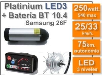 Kit Platinium LED 3 + batería BT de 10.4 Ah 36v.