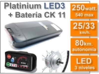 Kit Platinium LED 3 + batería CK de 11 Ah. 36v.
