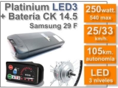 Kit Platinium LED 3 + batería CK de 14.5 Ah. 36v.