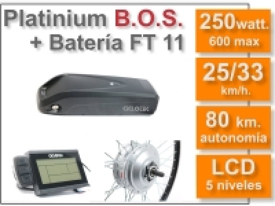 Kit Smart LCD5-B.O.S.36V. con batería FT de 11 Ah.