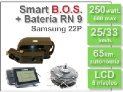KIT Smart LCD5 B.O.S. con batería RN 36v. 9Ah.