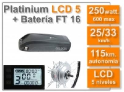 Kit Platinium LCD 5 + batería FT 16 Ah. 36v.