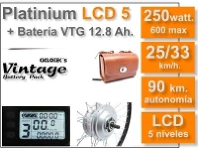 KIT Platinium LCD5 + Batería Vintage Marrón 36v. 12.8 Ah.