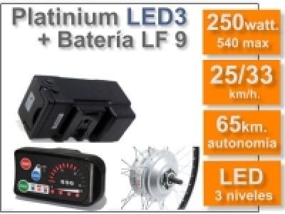 Kit Platinium LED 3 + batería LF de 9 Ah. 36v.