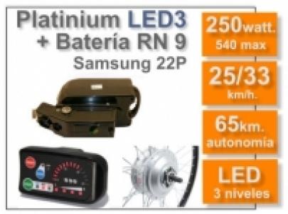 Kit Platinium LED 3 + batería RN de 9 Ah 36v.