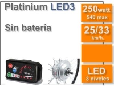 Kit Platinium LED 3 sin batería (Batería no incluida)