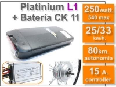 Kit Platinium L1 + batería CK de 11 Ah. 36v.