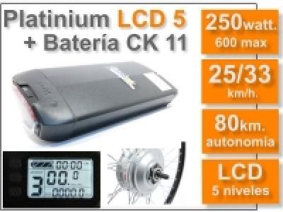 Kit Platinium LCD 5 + batería CK de 11 Ah. 36v.