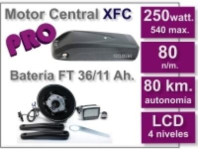 Kit Motor XFC PRO 36 V. con batería FT de 11 Ah.