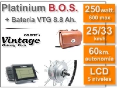KIT Smart LCD5 B.O.S. con batería VTG 36v. 12.8 Ah.
