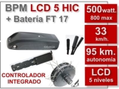 Kit BPM LCD 5 B.O.S.HIC + batería FT 17 Ah. 36 v.