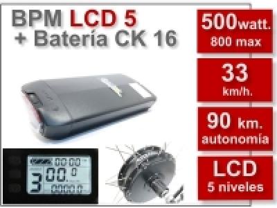 Kit BPM LCD5 CK 36V. 16Ah.