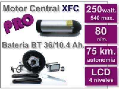 Kit Motor XFC PRO 36 V. con batería BT 10.4 Ah.