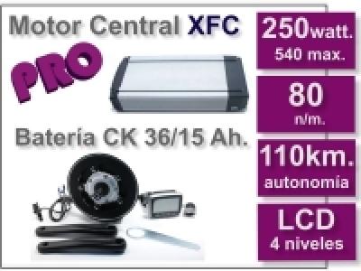 Kit Motor XFC PRO 36 V. con batería CK 15 Ah.
