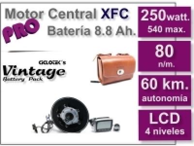 Kit Motor XFC PRO 36 V. con batería Vintage Marrón 8.8 Ah.