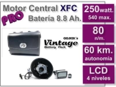 Kit Motor XFC PRO 36 V. con batería Vintage Negra 8.8 Ah.