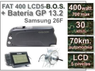 KIT FAT 400 FLCD5 B.O.S. + Batería GP de 36V., 13.2 Ah.