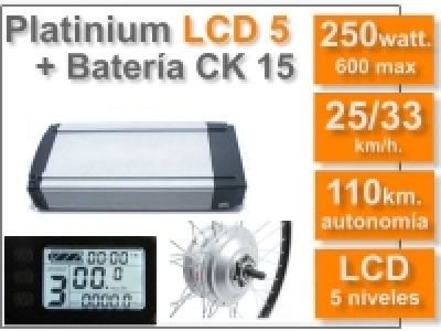 Kit Platinium LCD 5 + batería CK de 15 Ah. 36v.