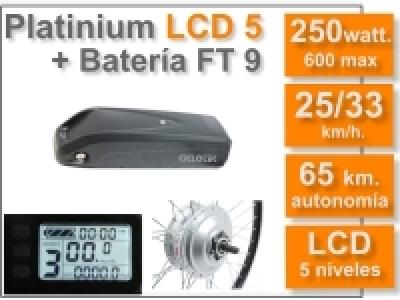 KIT Platinium LCD5 + Batería FT 36v. 9 Ah.