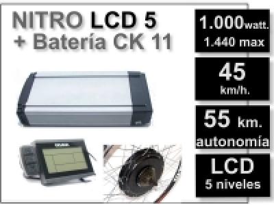 Kit Nitro LCD 5 + batería CK 11 Ah. 48v.