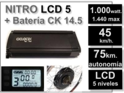 Kit Nitro LCD 5 + batería CK 14,5 Ah. 48v
