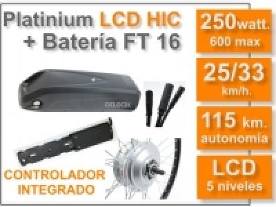 KIT Platinium LCD HIC + Batería FT 36v. 16 Ah.