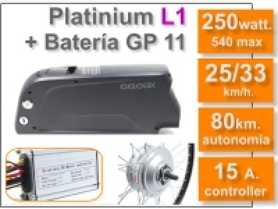 Kit Platinium L1 + batería GP de 11 Ah. 36v.