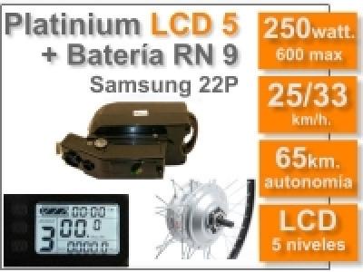 Kit Platinium LCD 5 + batería RN de 9 Ah 36v.