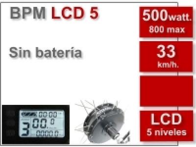 Kit BPM LCD 5 sin batería (batería no incluida)