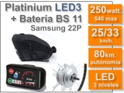 Kit Platinium LED 3 + batería BS de 11 Ah 36v.