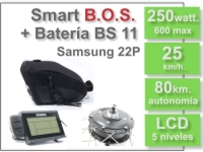 KIT Smart LCD5 B.O.S. con batería BS 36v. 11Ah.