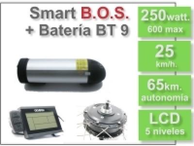 KIT Smart LCD5 B.O.S.con batería BT 36v. 9Ah.
